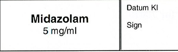 ETIKETT MIDAZOLAM 5MG/ML