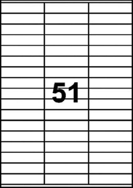 ETIKETT LASER/INKJET 70X16,9MM