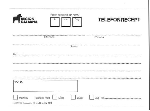 TELEFONRECEPT BL/50 LD